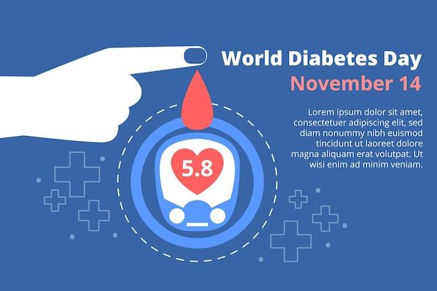Wereld diabetes dag banner