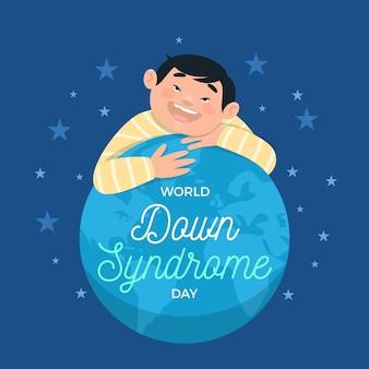 Wereld down syndroom dag illustratie