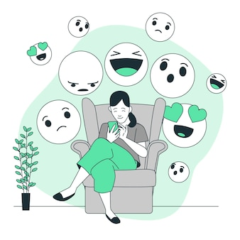 Wereld emoji dag concept illustratie