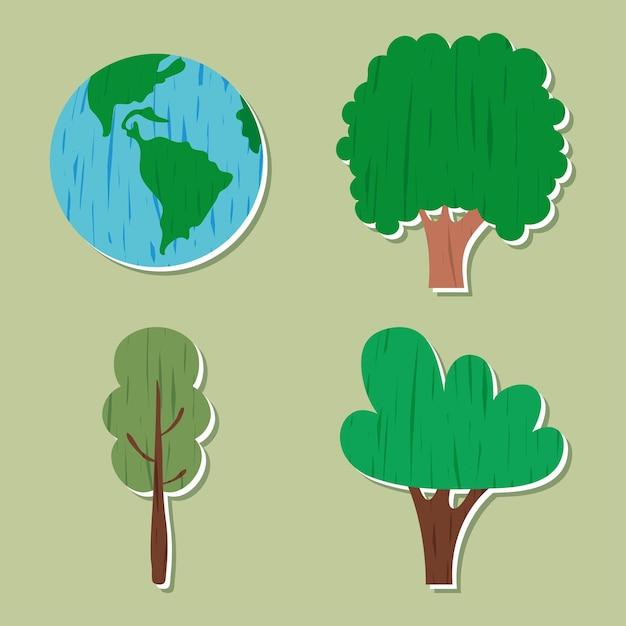 Wereld en bomen