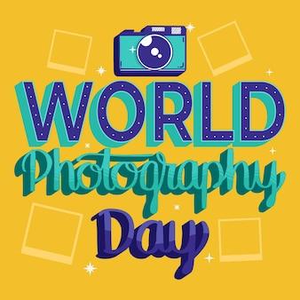 Wereld fotografie dag belettering