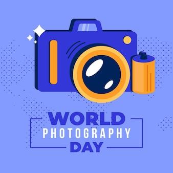 Wereld fotografie dag feest