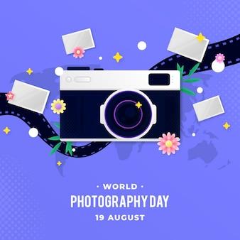 Wereld fotografie dag illustratie