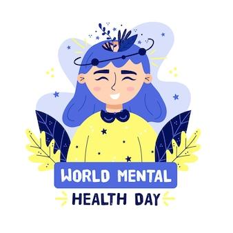 Wereld geestelijke gezondheid dag concept