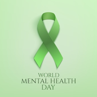 Wereld geestelijke gezondheidsdag groen lint