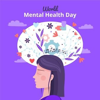 Wereld geestelijke gezondheidsdag ontwerp