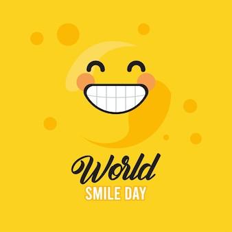 Wereld glimlach dag belettering
