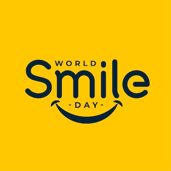 Wereld glimlach dag evenement viering achtergrond