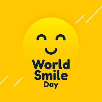 Wereld glimlach dag gele ontwerpsjabloon