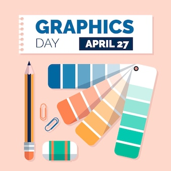 Wereld grafische dag illustratie