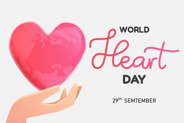Wereld hart dag poster