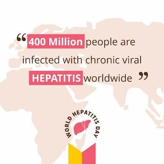 Wereld hepatitis dag bewustzijn poster