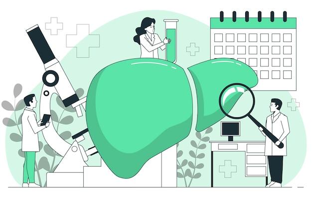 Wereld hepatitis dag concept illustratie