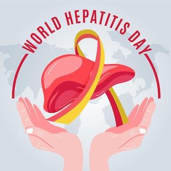 Wereld hepatitis dag illustratie