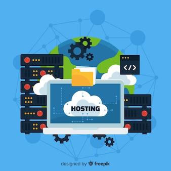 Wereld hosting service achtergrond