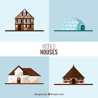 Wereld huizen collectie