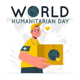 Wereld humanitaire dag concept illustratie