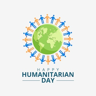 Wereld humanitaire dag concept