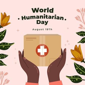 Wereld humanitaire dag illustratie