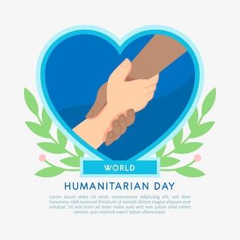 Wereld humanitaire dag met mensen hand in hand