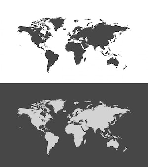 Wereld kaart illustratie