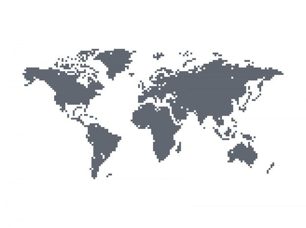 Wereld kaart thema vector grafische kunst ontwerp illustratie
