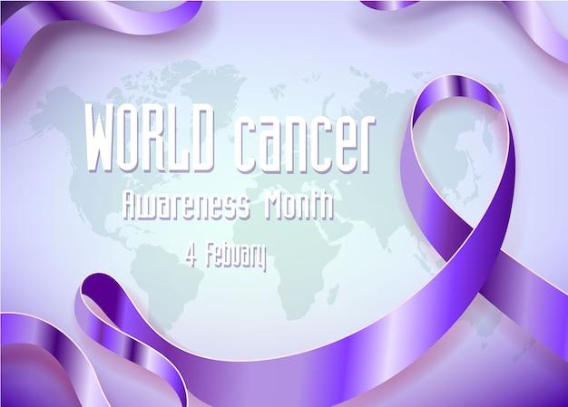 Wereld kanker campagne maand achtergrond