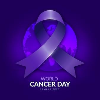 Wereld kanker dag achtergrond met kleurovergang
