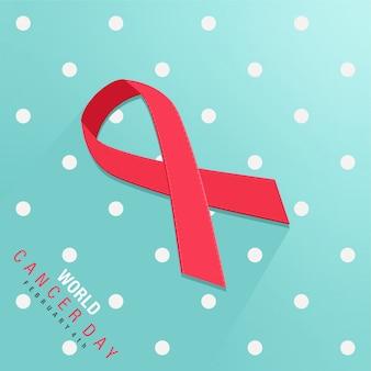 Wereld kanker dag ontwerp
