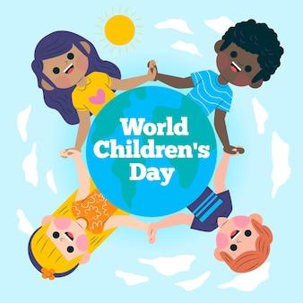 Wereld kinderdag illustratie