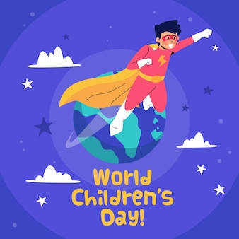 Wereld kinderdag ontwerp
