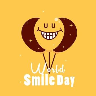Wereld lach dag ballonnen