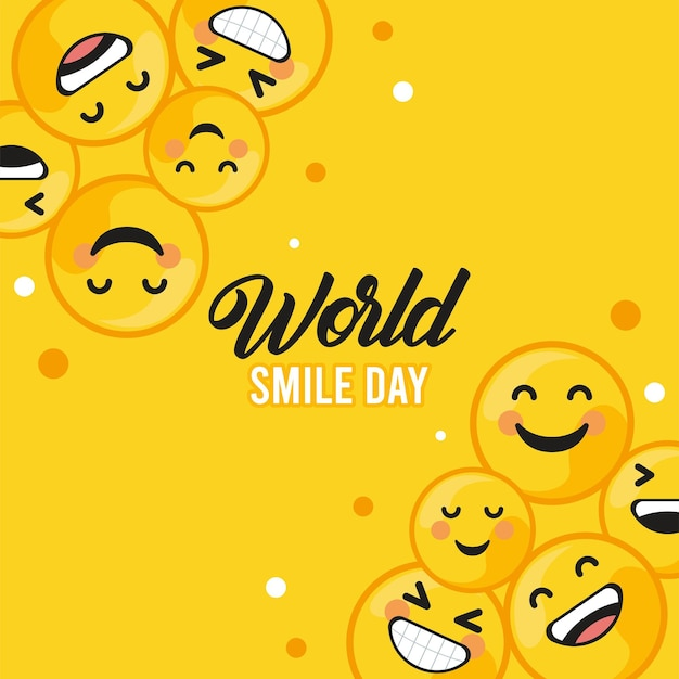 Wereld lach dag briefkaart