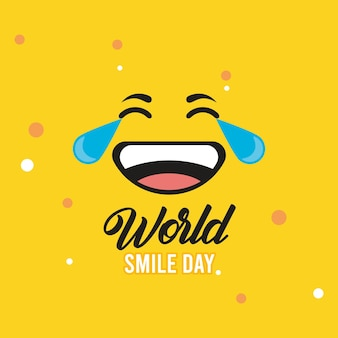 Wereld lach dag emoticon