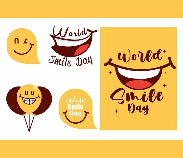 Wereld lach dag set