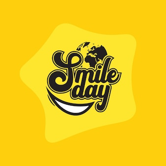 Wereld lach dag typografie
