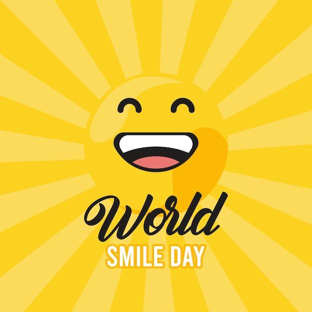Wereld lach dag zonnestraal