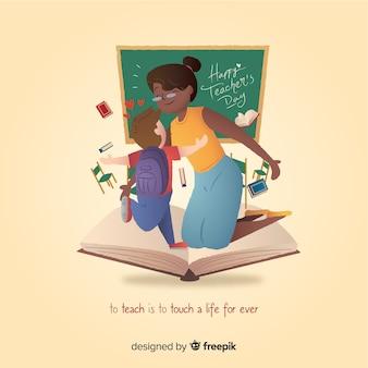 Wereld leraar dag illustratie