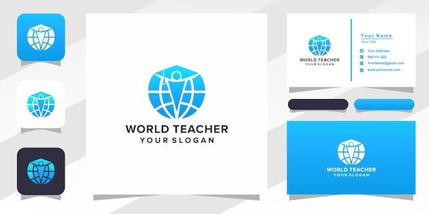 Wereld leraar logo