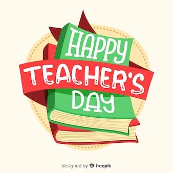 Wereld leraren dag belettering