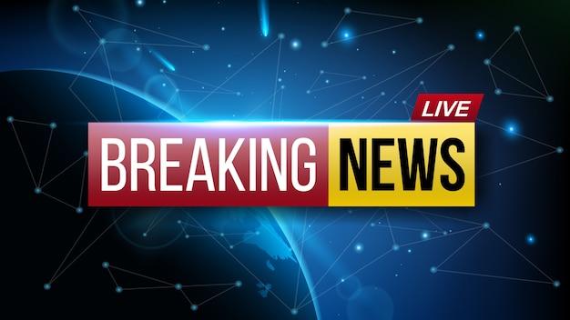Wereld live breaking news tv-show uitzending