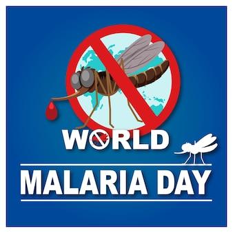 Wereld malaria dag-logo of banner zonder muggenteken