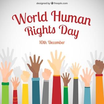 Wereld mensenrechten dag poster