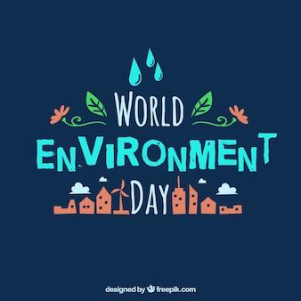Wereld milieu dag achtergrond