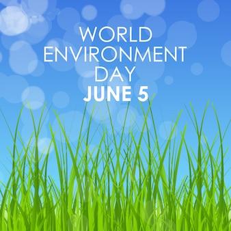 Wereld milieu dag concept kaart