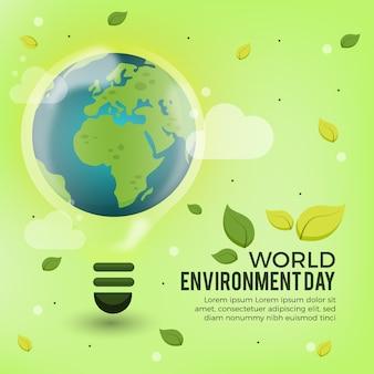 Wereld milieu dag concept