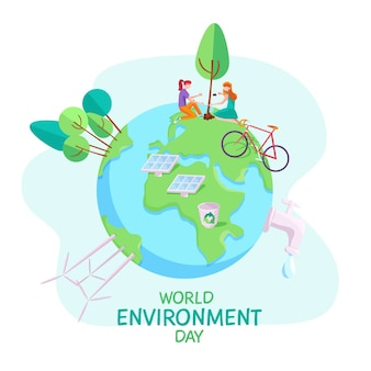Wereld milieu dag evenement concept