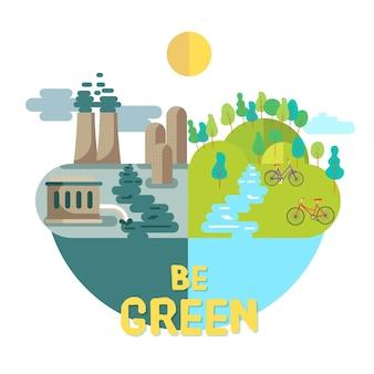 Wereld milieu dag evenement ontwerp