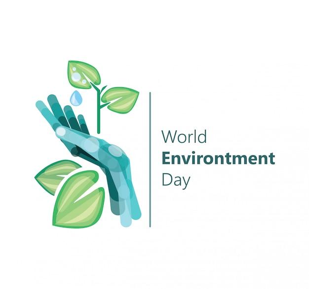 Wereld milieu dag illustratie