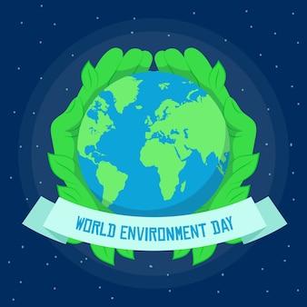 Wereld milieu dag viering stijl